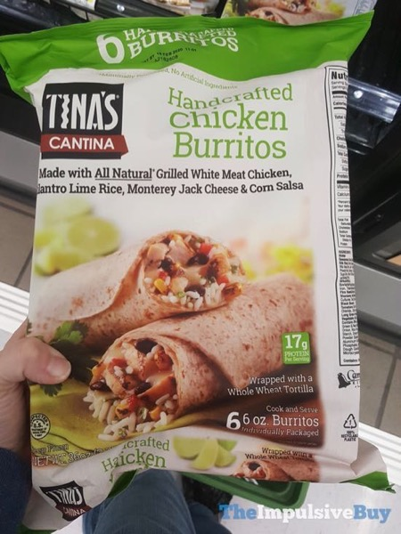 Tina s Cantina Handcrafted Chicken Burritos