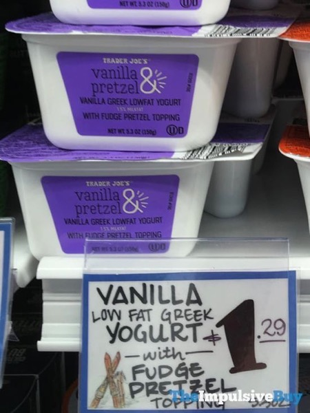 Trader Joe s Vaniila  Pretzel Greek Lowfat Yogurt