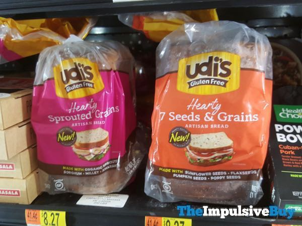 Udi s Gluten Free Hearty Sprouted Grains and 7 Seeds  Grains Artisan Breads