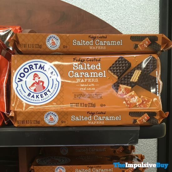 Voortman Bakery Fudge Coated Salted Caramel Wafers