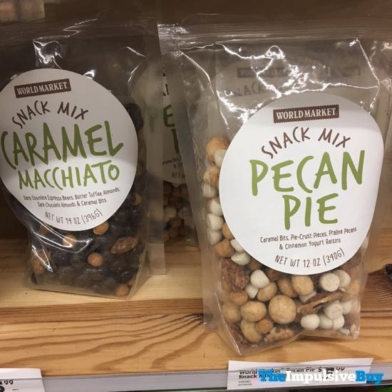 World Market Caramel Macchiato And Pecan Pie Snack Mixes