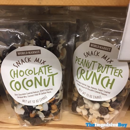 World Market Chocolate Coconut And Peanut Butter Crunch Snack Mixes