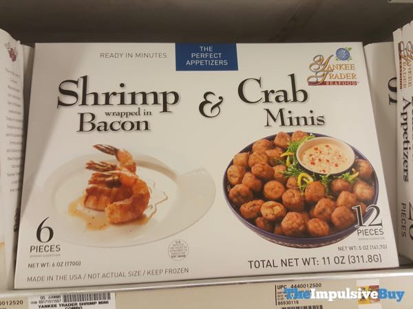 Yankee Trader Shrimp Wrapped in Bacon  Crab Minis