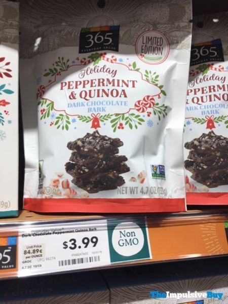 365 Everyday Value Limited Edition Holiday Peppermint  Quinoa Dark Chocolate Bark
