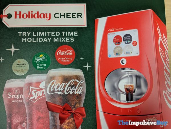 FAST FOOD NEWS: Coke Freestyle 2018 Holiday Mixes - The
