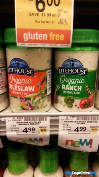 Litehouse Organic Coleslaw and Ranch Dressings