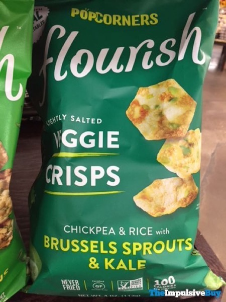 Popcorners Flourish Veggie Crisps Chickpea  Rice with Brussels Sprouts  Kale