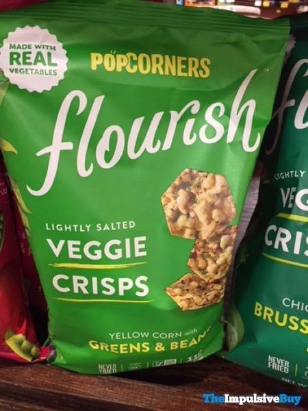 Popcorners Flourish Veggie Crisps Yellow Corn with Greens  Beans