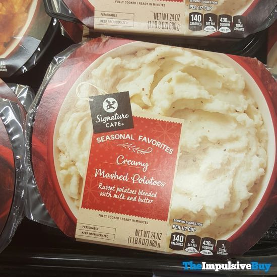 Safeway Signature Cafe Seasonal Favorites Creamy Mashed Potatoes 18AYTOM