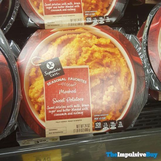 Safeway Signature Cafe Seasonal Favorites Mashed Sweet Potatoes 18AYTOM