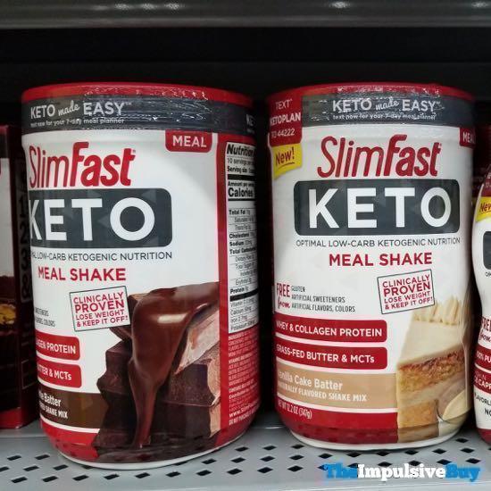 SlimFast Keto Meal Shake  Brownie Batter and Vanilla Cake Batter