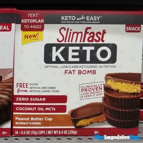 SlimFast Keto Peanut Butter Cup Fat Bomb