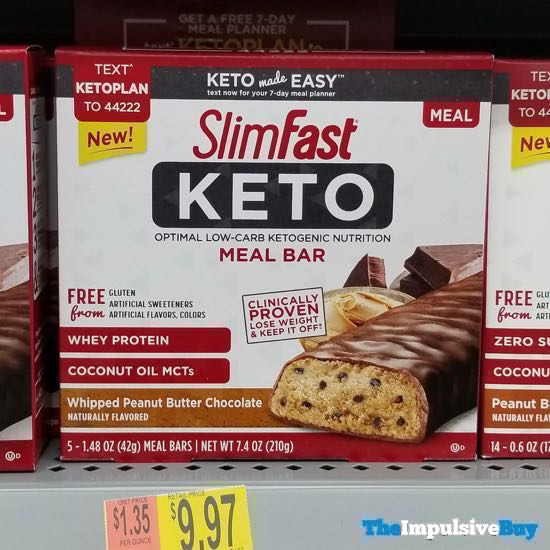 SlimFast Keto Whipped Peanut Butter Chocolate Meal Bar