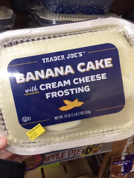 Trader Joe s Banana Cake with Cream Cheese Frosting