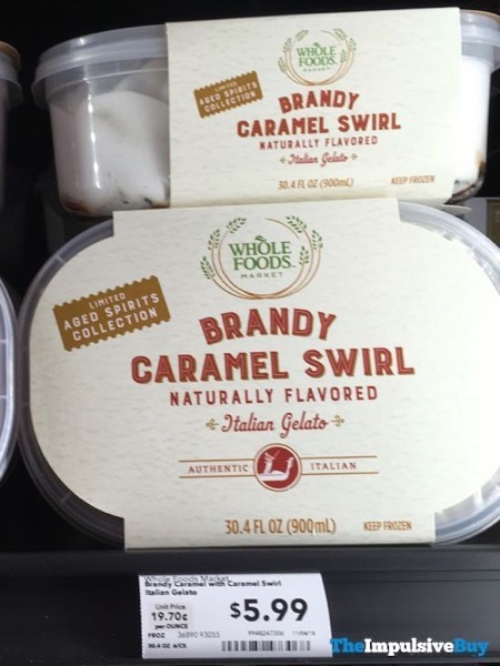 Whole Foods Limited Aged Spirits Collection Brandy Caramel Swirl Italian Gelato