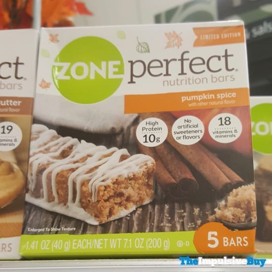 Zone Perfect Pumpkin Spice Nutrition Bars