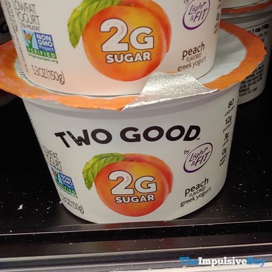 Dannon Light & Fit Two Good Peach Greek Yogurt