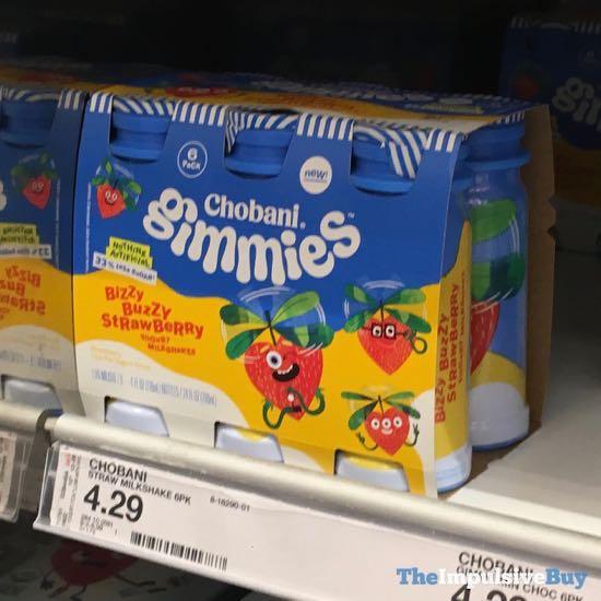 Chobani Gimmies Bizzy Buzzy Strawberry Yogurt Milkshakes