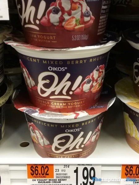 Oikos Oh Double Cream Yogurt Magnificent Mixed Berry Rhubarb