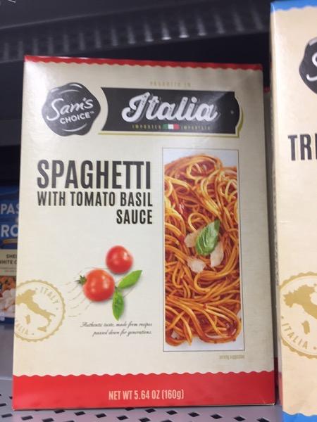 Sam s Choice Italia Spaghetti with Tomato Basil Sauce