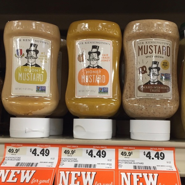 Sir Kensington s Dijon Mustard Honey Mustard and Spicy Brown Mustard Squeeze Bottles
