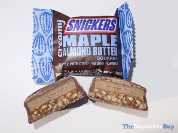 Creamy Snickers Maple Almond Butter Bars