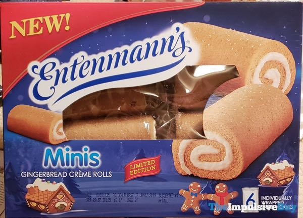 Entenmann's Minis Limited Edition Gingerbread Creme Rolls