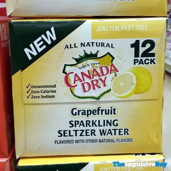 Canada Dry Grapefruit Sparkling Water