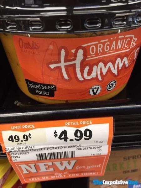 Oasis Naturals Spiced Sweet Potato Organic Hummus