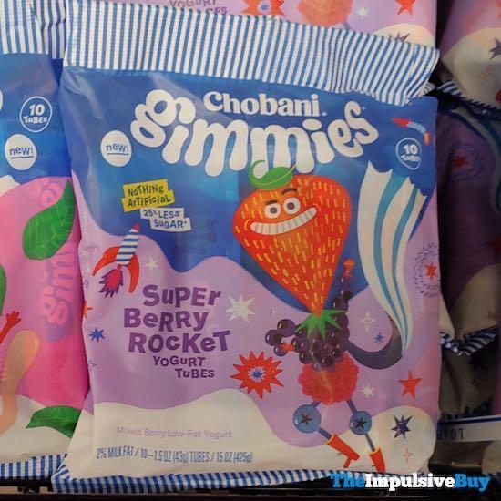 Chobani Gimmies Super Berry Rocket Yogurt Tubes