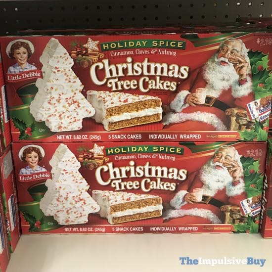 Spotted On Shelves Little Debbie Holiday Spice Christmas Tree Cakes