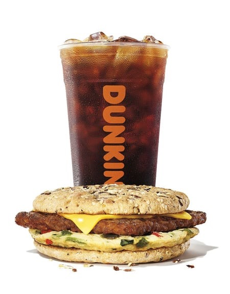Dunkin' Energy Cold Brew and Power Breakfast Sandwich