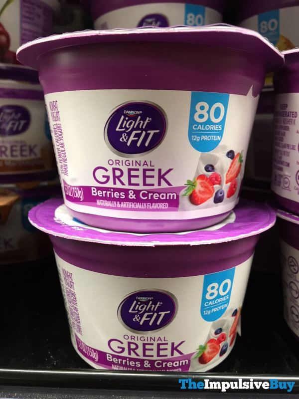Dannon Light  Fit Berries  Cream Original Greek