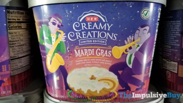 H E B Limited Edition Creamy Creations Mardi Gras Ice Cream