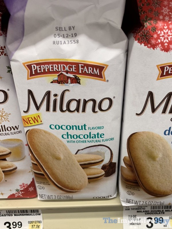 Pepperidge Farm Milano Coconut Chocolate Cookies