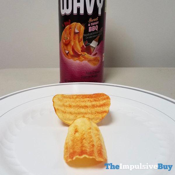Pringles Wavy Sweet  Tangy BBQ Crisps