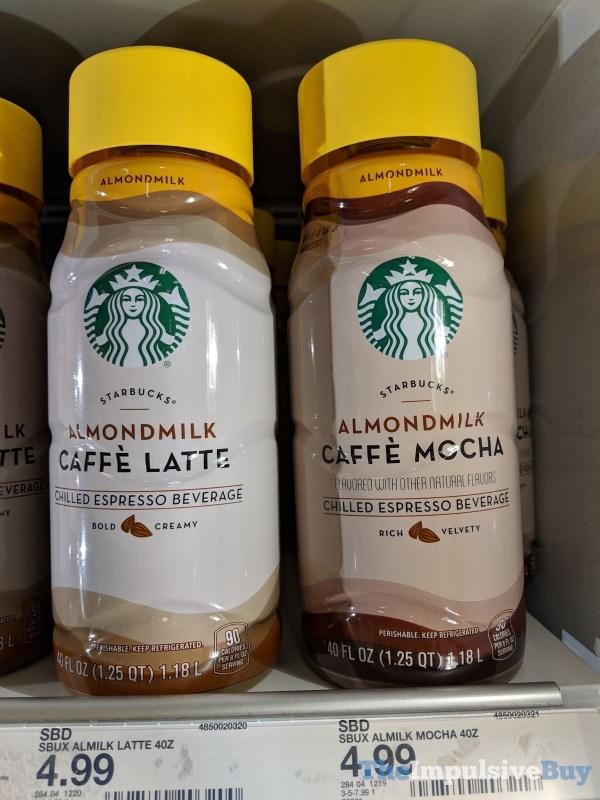 Starbucks Almondmilk Caffe Latte and Caffe Mocha