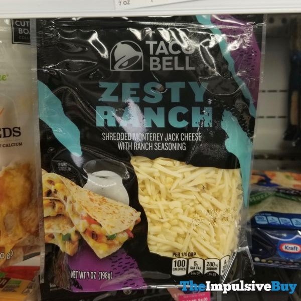 Taco Bell Zesty Ranch Shredded Cheese
