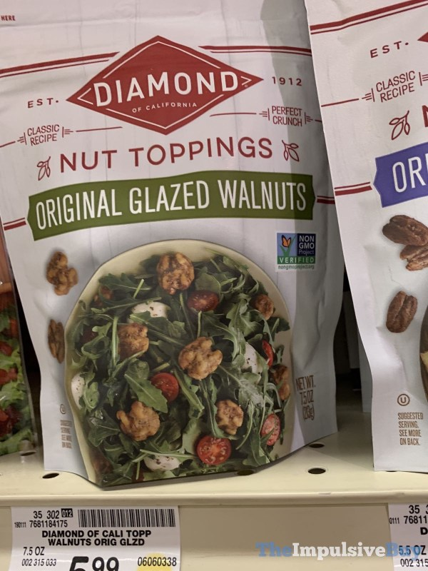 Diamond Nut Toppings Original Glazed Walnuts