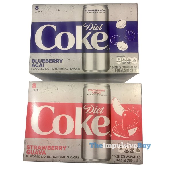 Diet Coke Blueberry Acai and Strawberry Guava