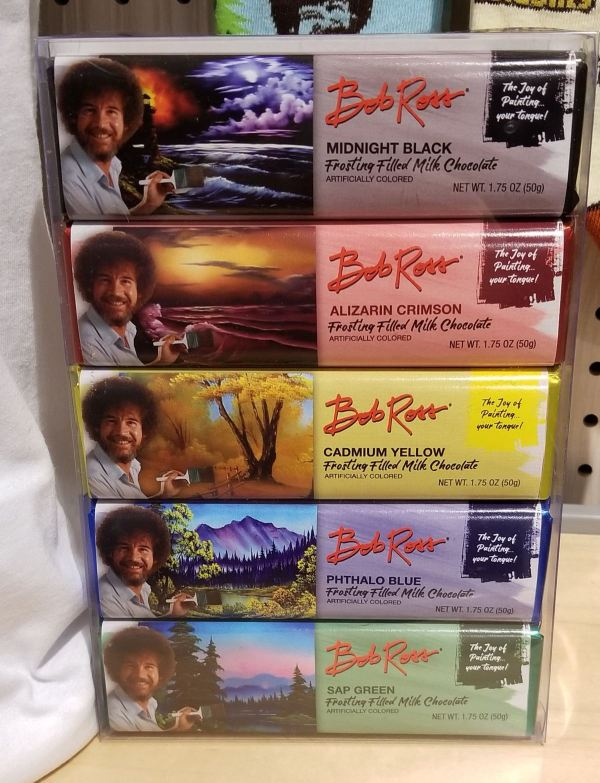 FYE Bob Ross Paint Your Tongue Chocolate Bar Gift Set