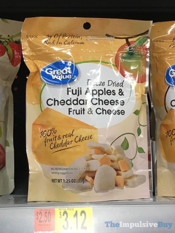 Great Value Freeze Dried Fuji Apples  Cheddar Cheese Fruit  Cheese