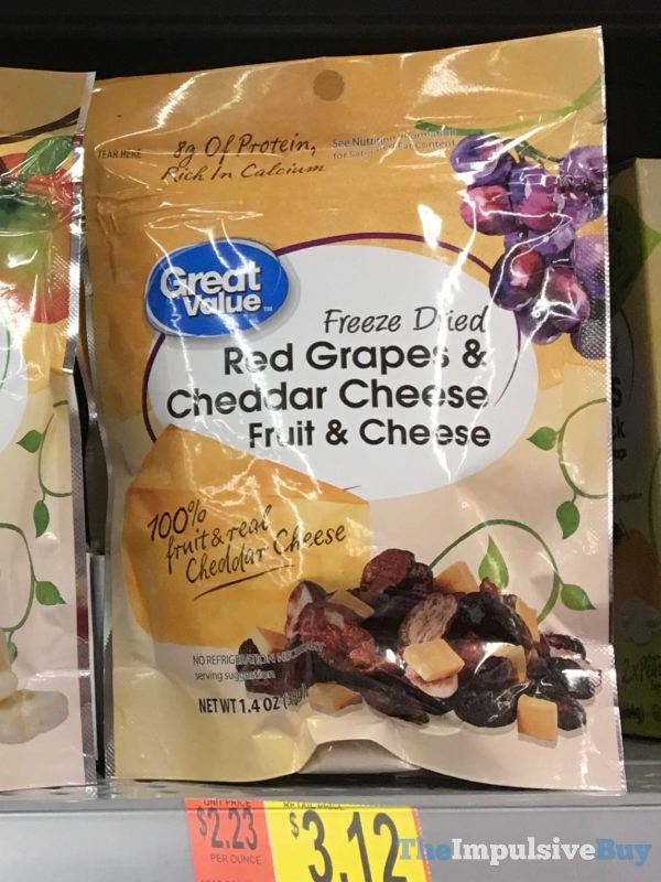 Great Value Freeze Dried Red Grapes  Cheddar Cheese Fruit  Cheese