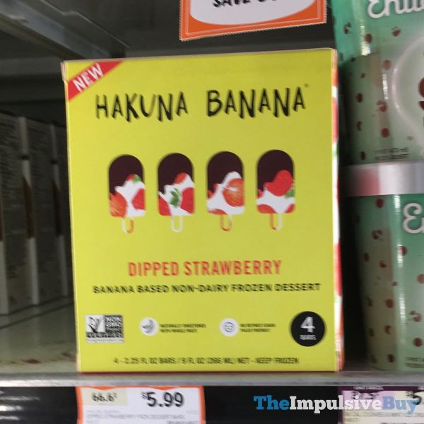 Hakuna Banana Dipped Strawberry Non Dairy Frozen Dessert Bars