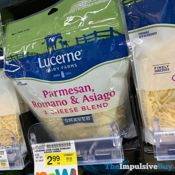 Lucerne Shaved Parmesan Romano  Asiago 3 Cheese Blend