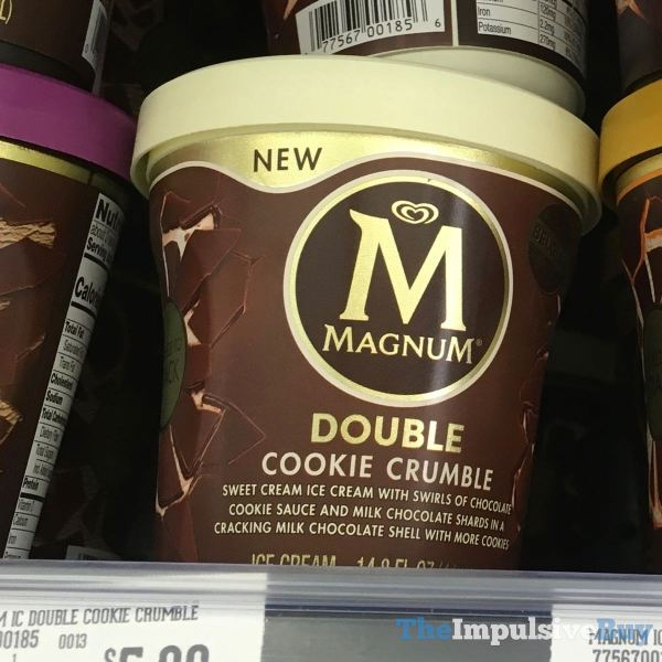 Magnum Double Cookie Crumble and Double Sea Salt Caramel