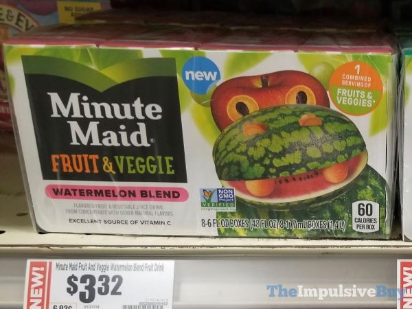 Minute Maid Fruit  Veggie Watermelon Blend
