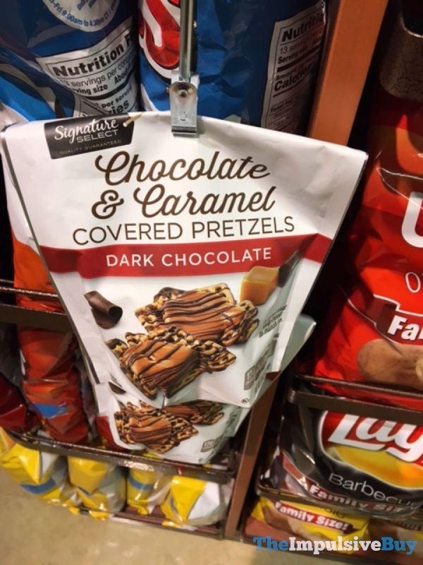 Signature Select Dark Chocolate Chocolate  Caramel Covered Pretzels