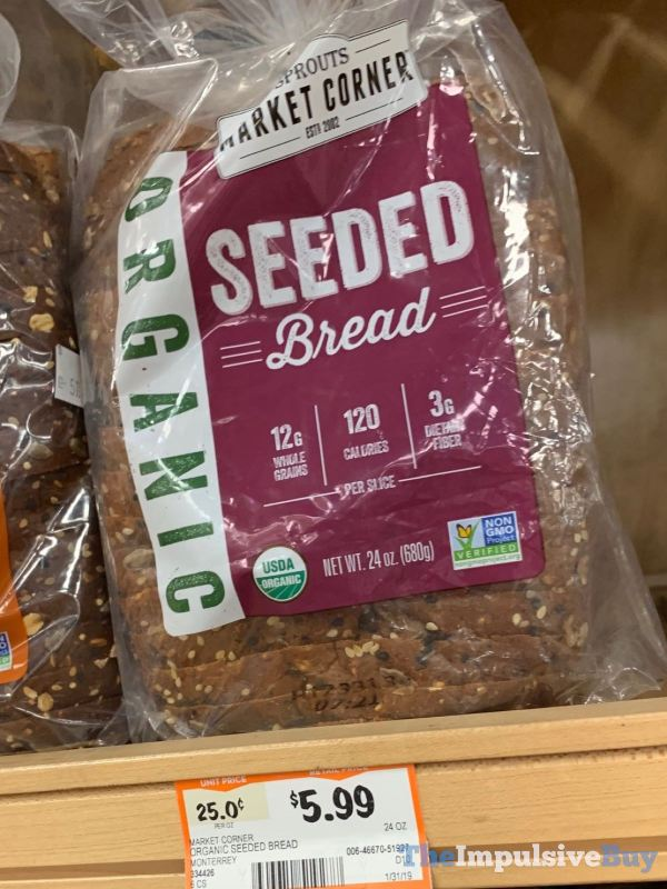 Sprouts Market Corner Organic Seeded Bread