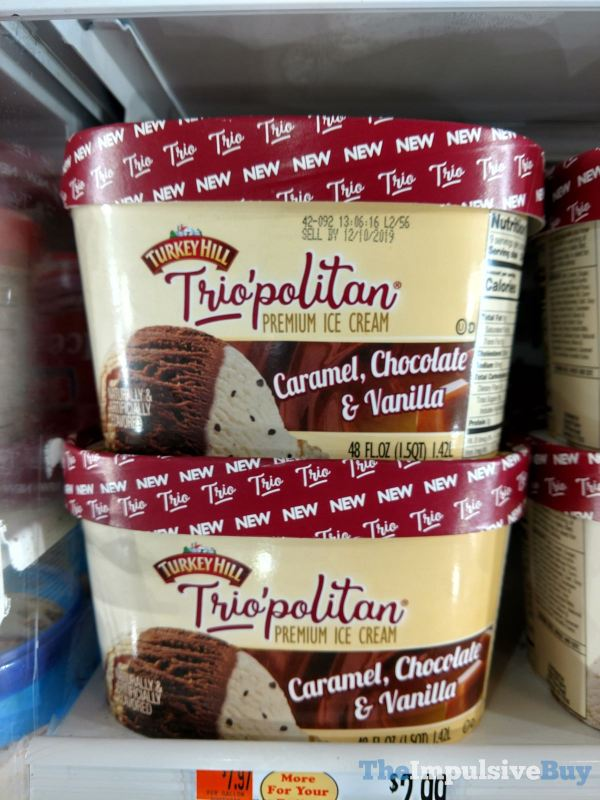 Turkey Hill Trio politan Caramel Chocolate  Vanilla Ice Cream